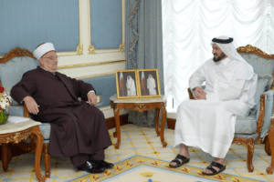 مع وزير الأوقاف القطري غيث بن مبارك الكواري