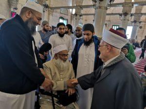 مع رجال الدعوة في بريطانيا بالمسجد الأقصى المبارك